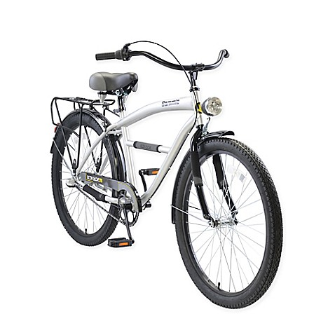 "Body Glove Bommie 26"" Men's Cruiser Bicycle in Silver at Bed Bath & Beyond in Cypress, TX 