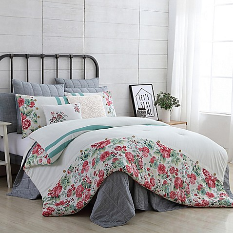 Vcny home farmhouse martha comforter set bed bath beyond - Bed bath and beyond bedroom furniture ...