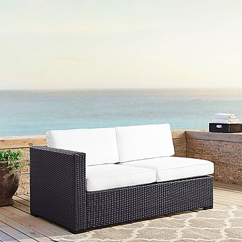 Crosley Biscayne All Weather Resin Wicker Loveseat With Cushions Bed Bath Beyond