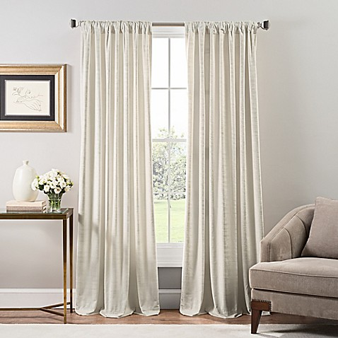 Stockton Velvet Rod Pocket/Back Tab Window Curtain Panel at Bed Bath & Beyond in Cypress, TX | Tuggl