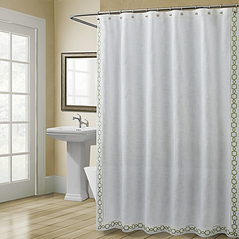 Buy Croscill Landon 54 Inch X 78 Inch Stall Size Shower Curtain In Green From Bed Bath Beyond