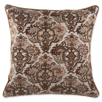 Renaissance Square Throw Pillow in Brown - Bed Bath & Beyond