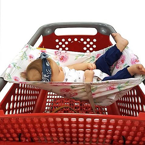 Binxy Baby 174 Baby Shopping Cart Hammock In White Pink Full