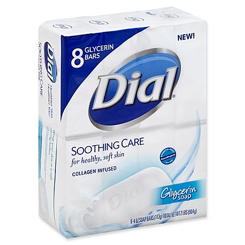 Dial 174 8 Count 4 Oz Soothing Care Glycerin Bar Soap Bed