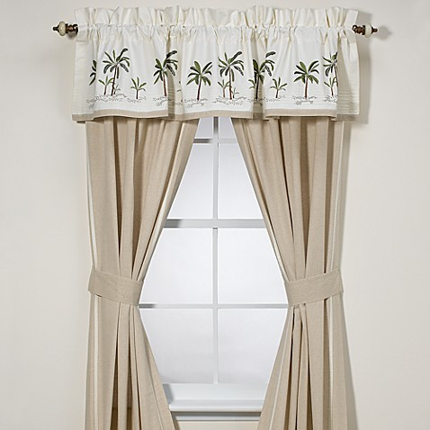 Croscill fiji window curtain panel pair and valance bed - Bed bath and beyond palm beach gardens ...