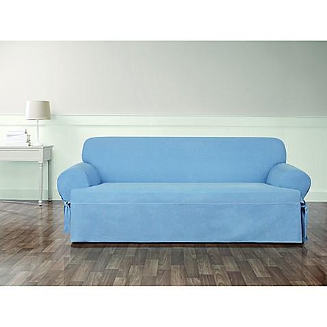 Surefit Authentic Denim T Cushion Sofa Slipcover Bed