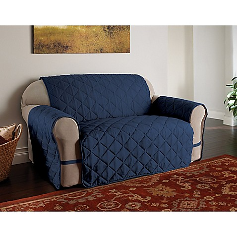 Buy microfiber ultimate sofa protector in navy from bed for Ultimate sofa bed