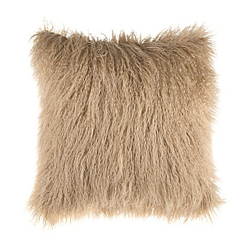 Mongolian Faux Fur Square Throw Pillow At Bed Bath Beyond In