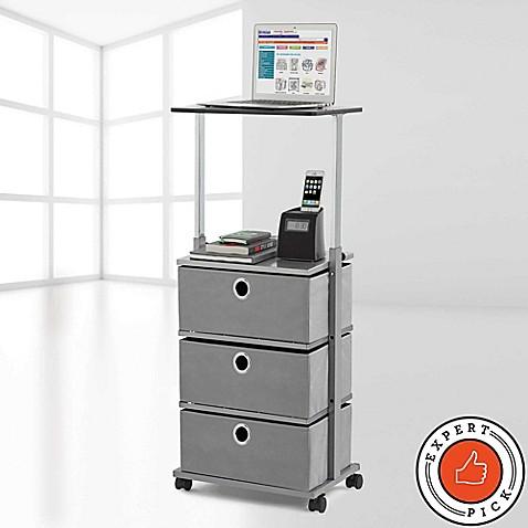 Studio 3b 3 drawer adjustable top storage cart bed bath - Bathroom storage cart with wheels ...