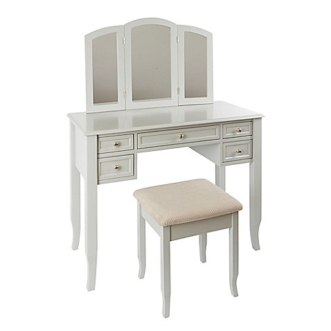 Charlotte 2 Piece Vanity Set With Power Strip And Usb