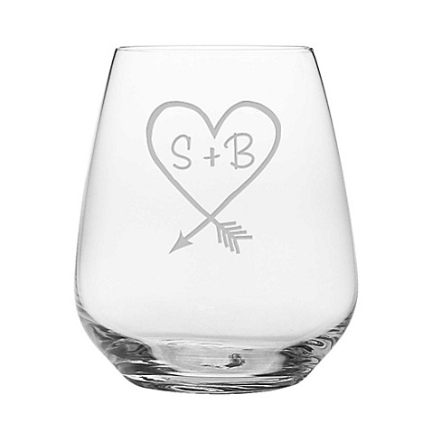 Susquehanna Glass Carved Stemless Wine Glasses (Set of 2) at Bed Bath & Beyond in Cypress, TX | Tuggl