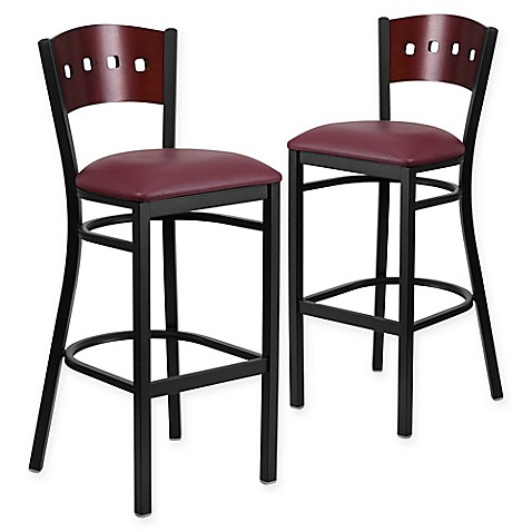 Buy Flash Furniture Square Back Padded Bar Stool In
