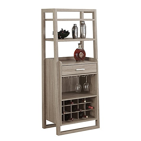 Buy Monarch Specialties 60 Inch Home Bar In Dark Taupe From Bed Bath Beyond