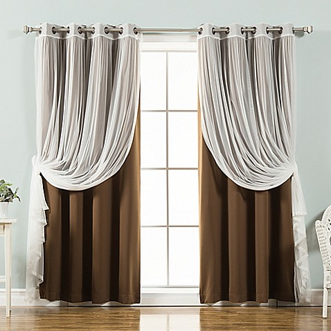 Buy decorinnovation mix match tulle 84 inch blackout for Mix and match curtains colors