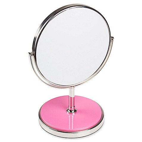 Buy kate spade new york pin dot vanity mirror in pink from for Mirror spades