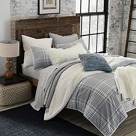 Ugg 174 Tara Plaid Flannel Reversible Comforter Set Bed