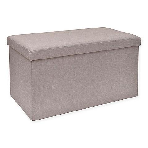 Studio 3b Folding Storage Ottoman With Tray Bed Bath