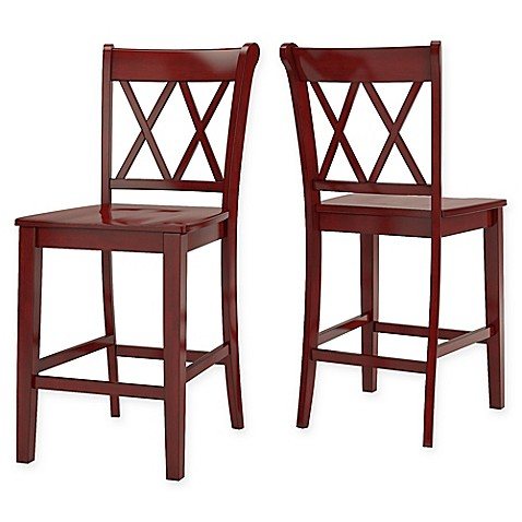 Buy Verona Home Marigold Hill X Counter Chairs In Berry Red Set Of 2 From Bed Bath amp Beyond