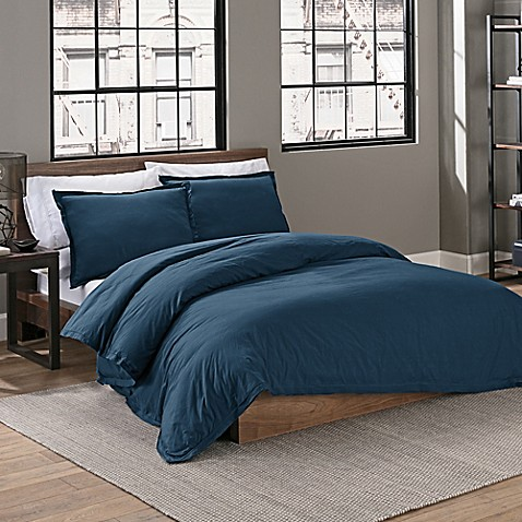 Garment Washed Duvet Cover Set by Bed Bath And Beyond