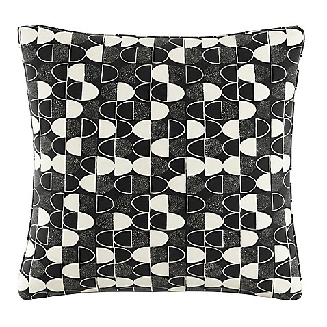 Black Throw Pillows Bed Bath And Beyond : Buy Cloth & Company Semicircles Geometric Print Throw Pillow in Fashion Black from Bed Bath & Beyond