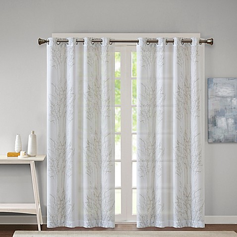 Madison Park Adair Grommet Top Sheer Burnout Window