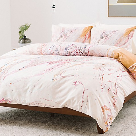 Deny Designs Iveta Abolina Winter Marble Duvet Cover Bed