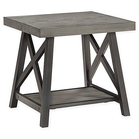 Buy Verona Home Beaumont Rustic X Base End Table In Oak