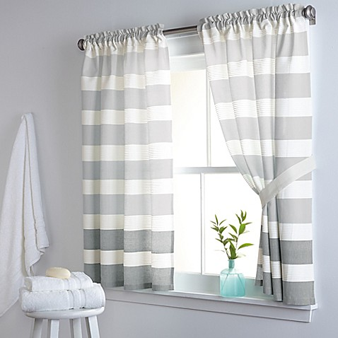 Dkny Highline Stripe 38 Inch X 45 Inch Cotton Window