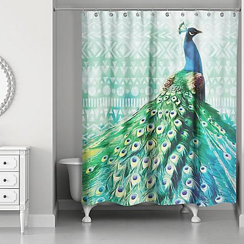 Designs Direct 71 Inch X 74 Inch Watercolor Boho Peacock