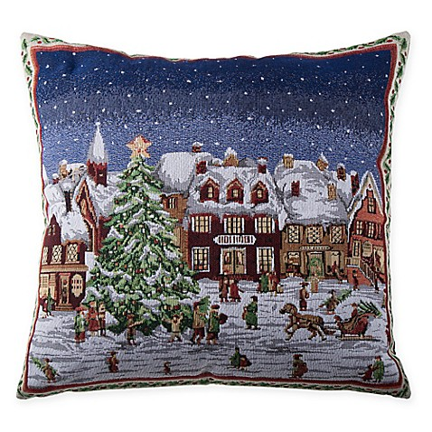 buy make your own pillow framed village square throw pillow cover from bed bath beyond. Black Bedroom Furniture Sets. Home Design Ideas