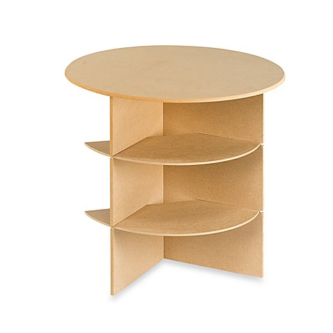 23 14 Inch Round Decorator Table With Shelves Bed Bath