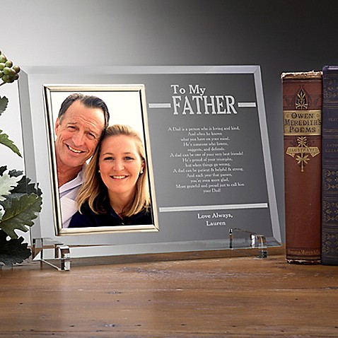 To My Dad Engraved Picture Frame at Bed Bath & Beyond in Cypress, TX | Tuggl