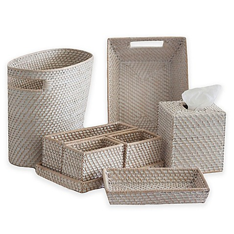 biscayne rattan bath accessories collection - bed bath