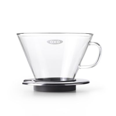 Oxo Coffee Maker Bed Bath And Beyond : OXO Good Grips Glass Pour Over Dripper in Steel - Bed Bath & Beyond