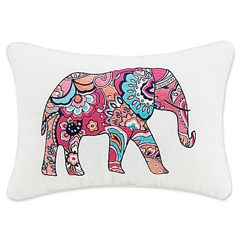 Elephant Throw Pillow Bed Bath And Beyond : Buy Vera Bradley Elephant Oblong Throw Pillow from Bed Bath & Beyond