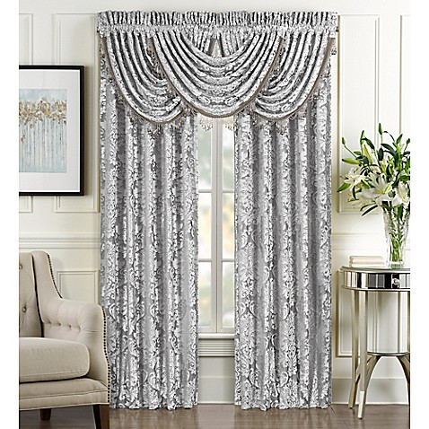 J Queen New York Bel Air Rod Pocket Window Curtain Panel