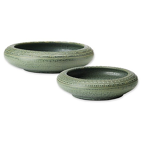 Madison Park Dumont Handmade Ceramic Bowl Collection in Green at Bed Bath & Beyond in Cypress, TX | Tuggl