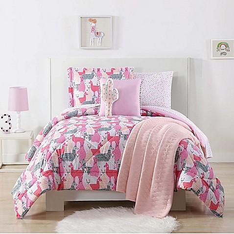 Buy Laura Hart Kids Llama Twin Xl Comforter Set In Pink