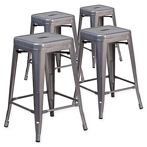 Buy Flash Furniture 24 Inch Backless Stackable Bar Stools