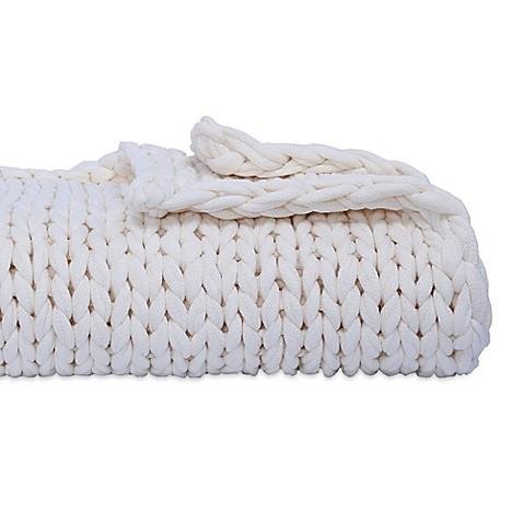 Berkshire Blanket Chunky Throw Blanket in White   Tuggl