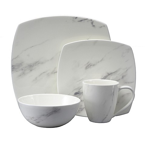 Oneida® Moda Couture Square 16-Piece Dinnerware Set at Bed Bath & Beyond in Cypress, TX | Tuggl