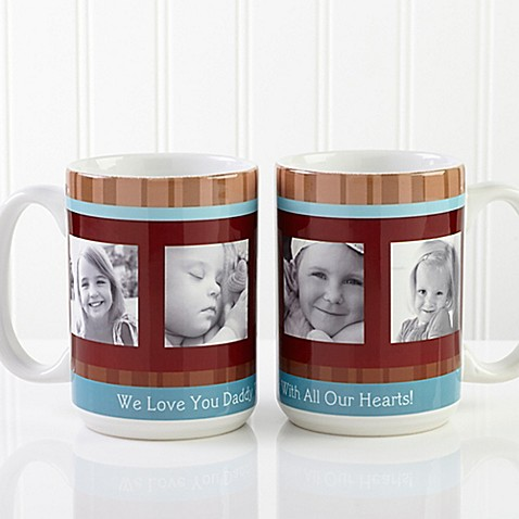 Photo Message 15 oz. Coffee Mug in White at Bed Bath & Beyond in Cypress, TX   Tuggl