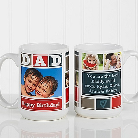 Dad Photo Collage 15 oz. Coffee Mug in White at Bed Bath & Beyond in Cypress, TX   Tuggl