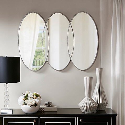 Buy Madison Park Signature Eclipse 30 Inch X 40 Inch Wall Mirror In Antique Silver From Bed Bath