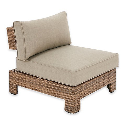 Ink ivy bali outdoor chaise lounge in mocha light grey for Bali chaise lounge