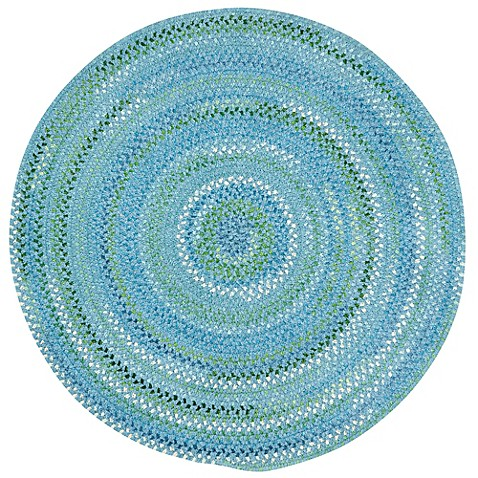 Buy capel rugs waterway 3 foot round area rug in blue from for Where to buy round rugs