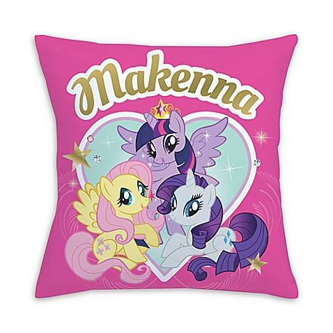 Cute Bath Pillow : My Little Pony Royally Cute Square Throw Pillow in Pink - Bed Bath & Beyond