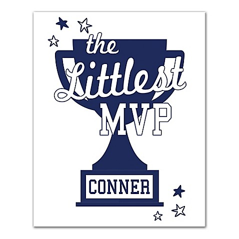 """Designs Direct """"The Littlest MVP"""" 16-Inch x 20-Inch Canvas Wall Art at Bed Bath & Beyond in Cypress, TX 