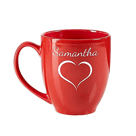 Valentine Cheer 14.5 oz. Red Bistro Mug at Bed Bath & Beyond in Cypress, TX | Tuggl