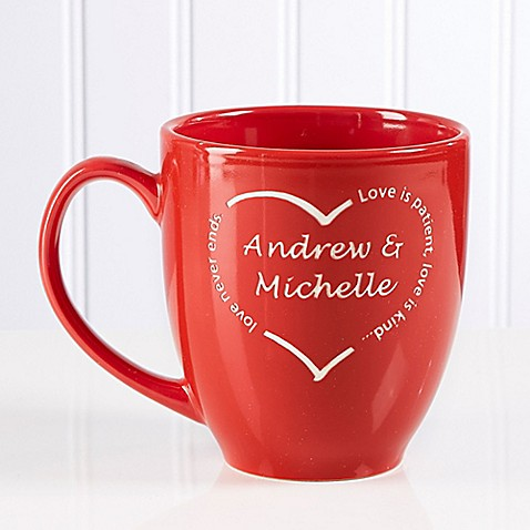 A Heart of Love 14.5 oz. Red Bistro Mug at Bed Bath & Beyond in Cypress, TX | Tuggl